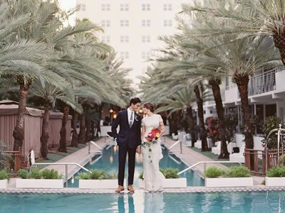 wedding at the National Hotel Miami Beach