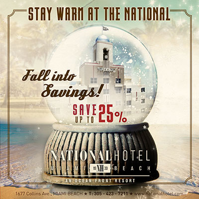 National Hotel Miami Beach Fall 2018 Promotion