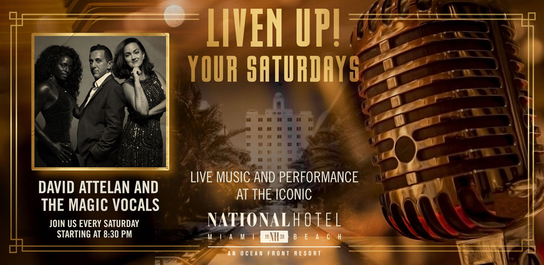 Live Music Saturdays with David Attelan and The Magic Vocals