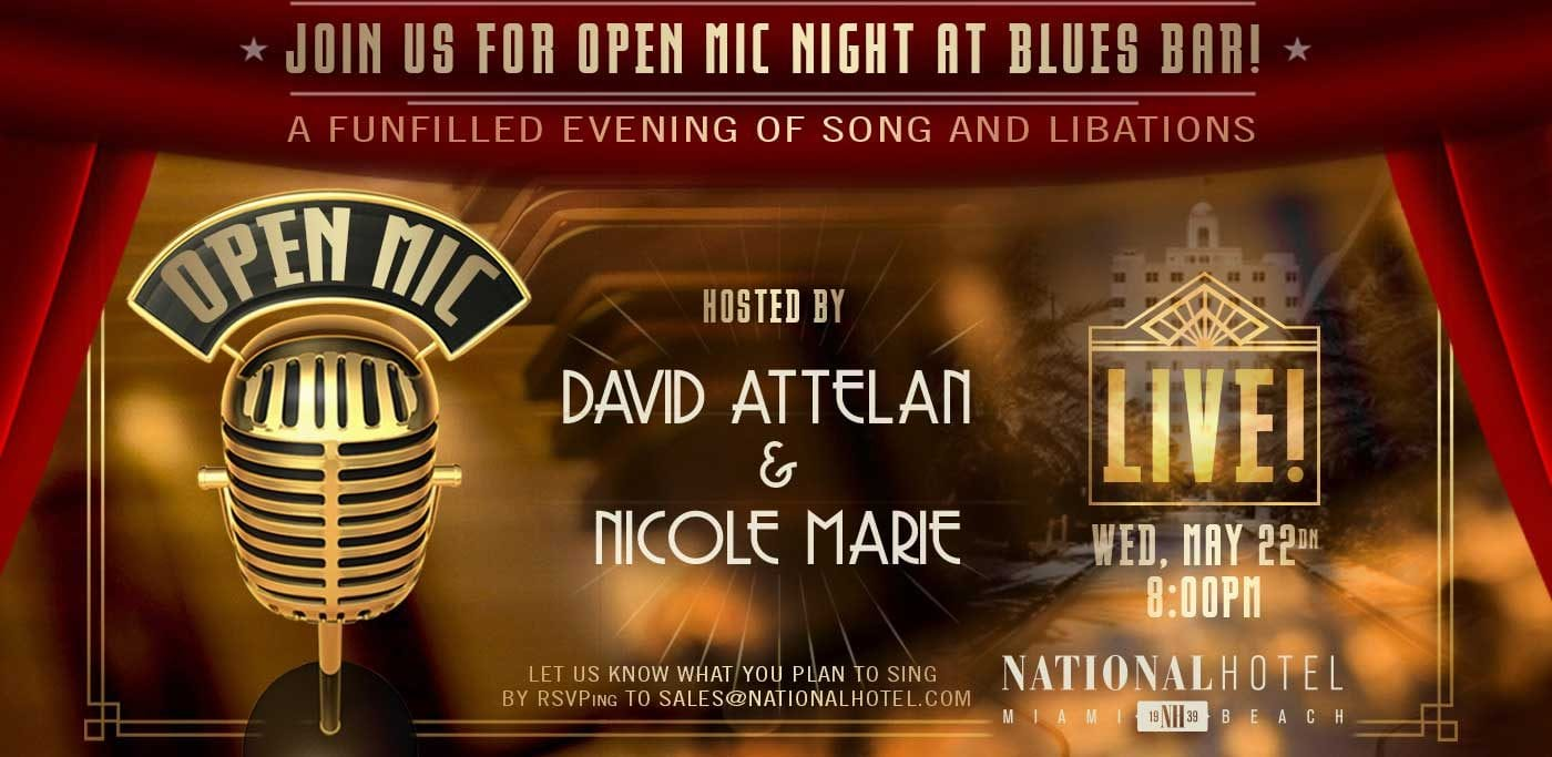 Open Mic Night at The National Hotel Miami Beach