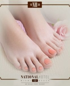 Pedicure Nail polish Miami Beach