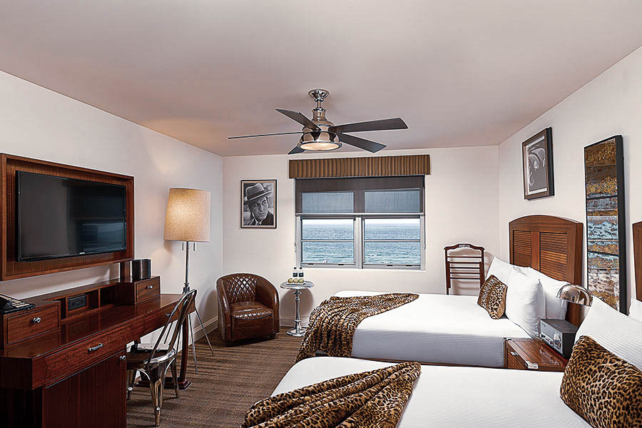 Double Beds Ocean View Room National Hotel Miami Beach