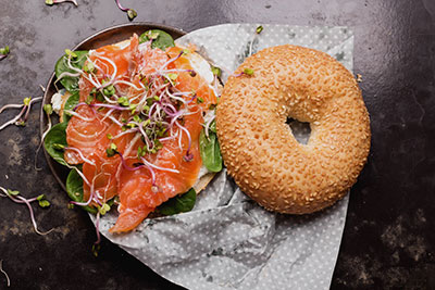 Salmon Bagel at The National Hotel