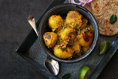 Side of Masala Spiced Potatoes at The National Hotel