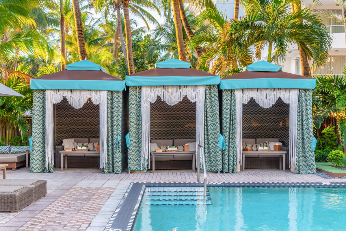 National Hotel Pool Cabanas Miami Beach