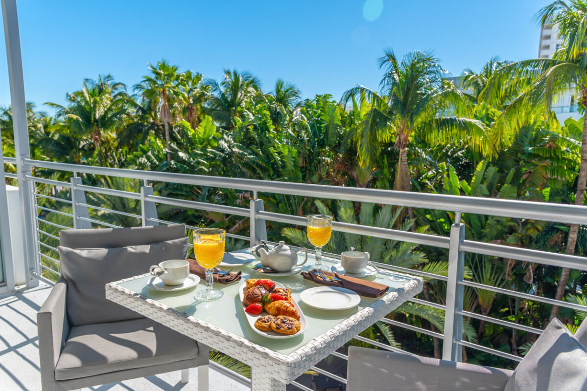 Cabana Room Breakfast National Hotel Miami Beach